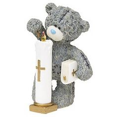 2 X ME TO YOU BEAR TATTY TEDDY ON YOUR COMMUNION FIGURINE CAKE DECORATION GIFT