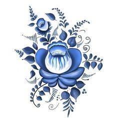 Folk Gzhel painting from Russia. Folk Gzhel painting from Russia. This image has. China Painting, Tole Painting, Fabric Painting, Embroidery Flowers Pattern, Folk Embroidery, Pintura Tole, Bordado Popular, Russian Folk Art, Painting Patterns