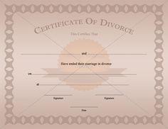 Certificate of divorce template printable divorce certificate template printable marriagecertificatetemplate yelopaper Images