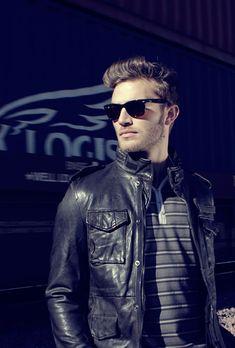 basic black leather jacket