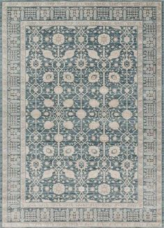 Joanna Gaines Rugs of Magnolia Home Rug Collection - Ella Rose Collection - DK BLUE / DK BLUE Joanna Gaines Rug Ella Rose Collection Of Loloi Rugs Is A Modern Interpretation Of Traditional Persian Sty
