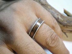 anello uomo donna.  alluminio rame. Stile di daedalusproject