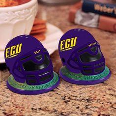 ECU -East Carolina University Pirates - helmet style salt & pepper shaker set