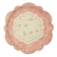 Amazon.com MERI MERI Lita Plates Large Disposable Plates Kitchen \u0026  sc 1 st  Pinterest & Afternoon Tea Small Disposable Plates | A mad tea party | Pinterest ...