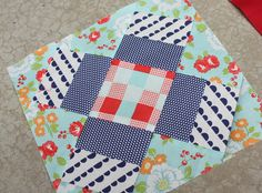Diary of a Quilter - a quilt blog: Virtual Quilting Bee block #10