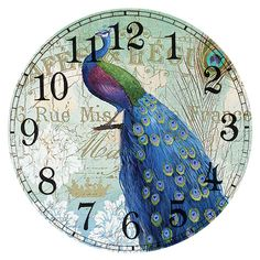 Home Crafts, Arts And Crafts, Peacock Pictures, Mosaic Animals, Diy Clock, Cross Paintings, Handmade Crafts, Sewing Crafts, Cross Stitch