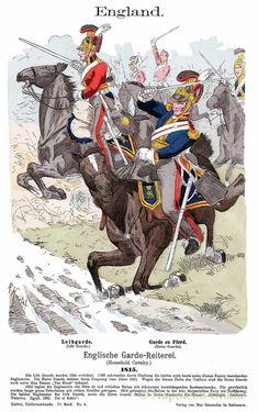 British Army Uniform, British Uniforms, Waterloo 1815, War Of 1812, Napoleonic Wars, Lifeguard, American Revolution, Military Art, Great Britain