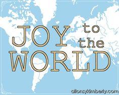 Free Christmas Printables: Joy to the World   allonsykimberly.com