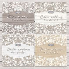 Vector lace wedding border clipart by burlapandlace on Creative Market
