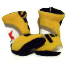 PITTSBURGH STEELERS BUGGS Baby Booties Crib Shoes Baby Slippers  $10.00