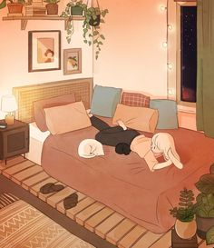 Scenery Wallpaper, Cute Anime Wallpaper, Cute Cartoon Wallpapers, Cartoon Drawings, Cartoon Art, Cute Drawings, Cozy Small Bedrooms, House Drawing, Anime Scenery
