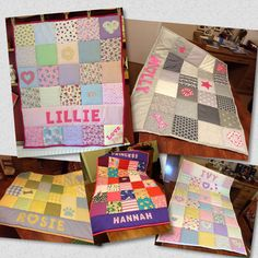 A personal favourite from my Etsy shop https://www.etsy.com/uk/listing/523188908/quilted-personalised-blanket-baby-gift