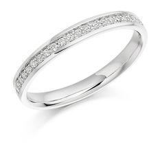 Grain Set 0.17ct Round Brilliant Cut Diamond Half Eternity Ring