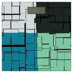 Coal White Teal Green Aqua Blue Modern Pattern Bathroom Scale - modern gifts cyo gift ideas personalize