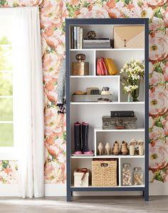 Wood Shelving Units, Shelving Design, Wood Shelves, Shelf Design, Display Shelves, Bookcase Makeover, Furniture Makeover, Diy Furniture, Cupboard Makeover