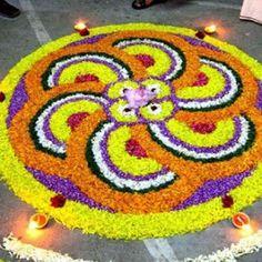 25 Most Colourful Simple Rangoli Designs for Home - Buy lehenga choli online Rangoli Designs Flower, Rangoli Designs Diwali, Rangoli Designs With Dots, Diwali Rangoli, Flower Rangoli, Rangoli With Dots, Beautiful Rangoli Designs, Kolam Designs, Simple Rangoli