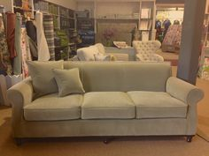 Fortland Sofa covered in GP & J Baker fabric at Ryle & Company