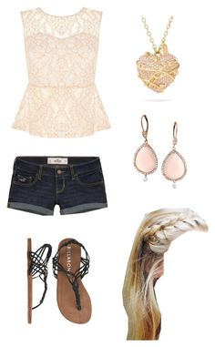 """Summer time outfit"" by volleyballchick15 ❤ liked on Polyvore featuring Hollister Co., Billabong and Coach"