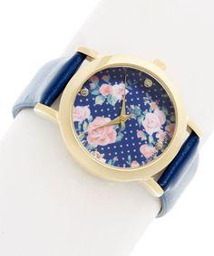 Navy Flower Watch