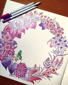 @johannabasford @staedtlermars #johannabasford #staedtler #MagicalJungle #myCreativeEscape #mySTAEDTLER ♡ ♡ ♡ #coloriage #coloringbook #coloredpencil #beautiful #love #style #perfect #favorite #life #lifestyle #tokyo #japan #happy #fun #colorful #animal #jungle #leaves #flowers #butterfly #pink #purple #green #red