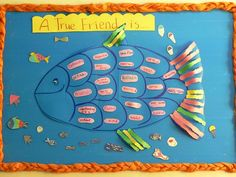 Friendship project - rainbow fish bulletin board