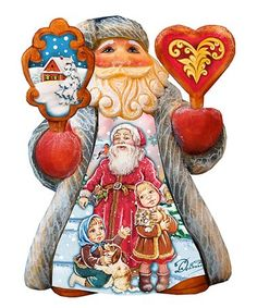 Loving this Pets Mini Tale Illustrated Santa Figurine on Santa Figurines, Collectible Figurines, Father Christmas, Christmas Time, Holiday Gifts, Holiday Decor, Pets 3, Santa Ornaments, Russian Art