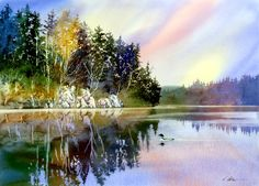 GARY SPETZ WATERCOLORS..I wish that I could afford a class of Gary Spetz. I just Love the way he paints.