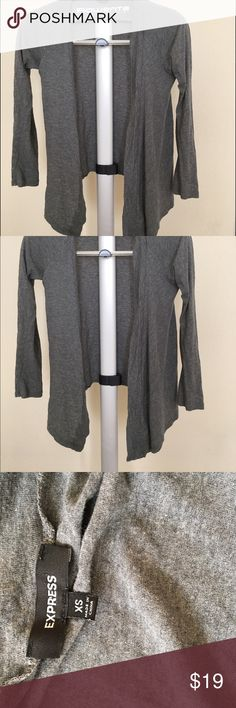 EXPRESS thin gray cardigan, XS Express thin gray cardigan, perfect for spring/summer, or a cool fall day. XS Express Sweaters Cardigans