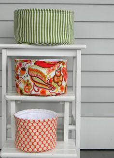 #sew these gorgeous round #baskets perfect for #christmas #gifts or #storage containers