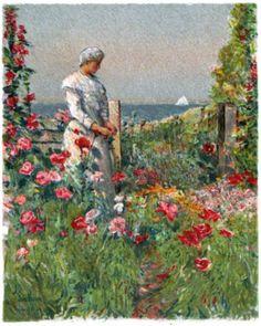 Childe Hassam- Celia Thaxter in her garden, Isle of Shoals