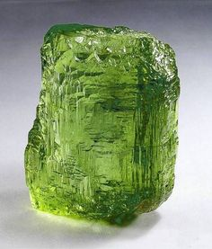 "multicolourgems: ""Peridot is the gemstone variety of the mineral olivine. The most beautiful peridot gemstones come from the border area between Pakistan and Afghanistan. Peridot is cut in accordance. Minerals And Gemstones, Rocks And Minerals, Beautiful Rocks, Rocks And Gems, Stones And Crystals, Gem Stones, Gothic Steampunk, Steampunk Clothing, Victorian Gothic"