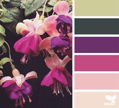 Kombinationen mit Fuchsia Farbe von der Natur inspiriert