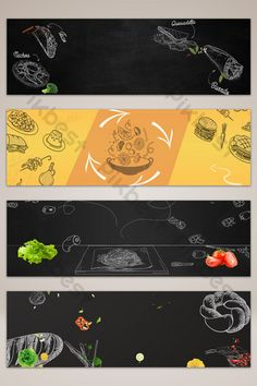 Simple hand drawn food fast food banner poster background#pikbest#backgrounds Poster Background Design, Background Banner, Food Poster Design, Food Design, Broken Book, Create A Banner, Cute Doodle Art, Facebook Cover Design, Creative Banners