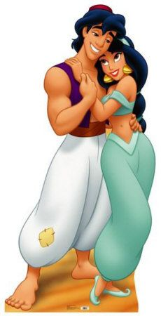 Disney Aladdin & Jasmine Life-Size Cardboard Standee 787