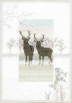 Frosty Deer - Misty Mornings Cross Stitch Kit from Derwentwater Designs