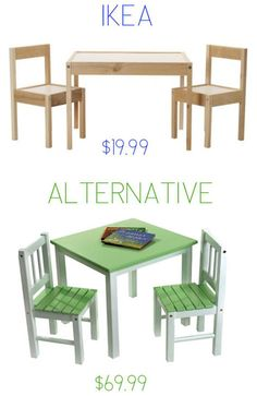 Ikea Latt Hack Table And Chairs Decoupaged With Sbook Paper Kidswoodcrafts Kids Wood Crafts Pinterest P
