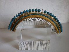 Old jewelry crown tiara comb diademe turquoise glass beads 19ème | Art, antiquités, Objets du XIXe et avant | eBay!