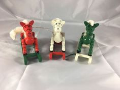 Vintage Wooden Rocking Horse Christmas Ornaments  | eBay