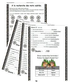 A la recherche des mots oubliés, lecture, compréhension, confusions, sons, ce1, ce2, dixmois French Teacher, Teaching French, Vocabulary Activities, Reading Activities, 14 Mai, Education And Literacy, Core French, French Immersion, Speech Language Pathology
