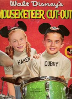 Mouseketeers Cubby & Karen* 1500 free paper dolls at Arielle Gabriel's International Paper Doll Society for Pinterest paper doll pals *