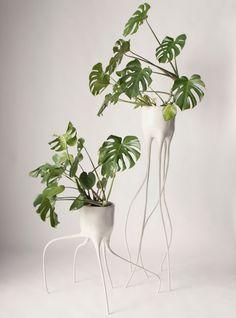 Skulpturelle plantestativer