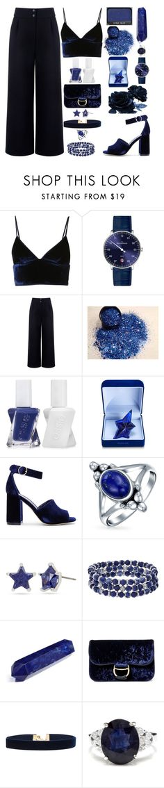 """""""Blue"""" by lucy-wolf ❤ liked on Polyvore featuring T By Alexander Wang, MeisterSinger, Être Cécile, Essie, Thierry Mugler, Joie, Bling Jewelry, Betsey Johnson, Chaps and Polo Ralph Lauren"""