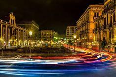 Catania, piazza Stesicoro by night