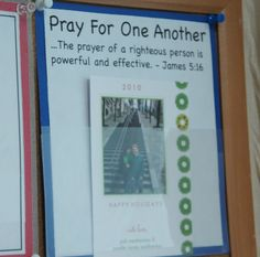 LOVE this idea...using Christmas photo cards to remember to pray for friends and family each day/week