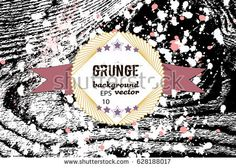 Grunge border.  Abstract background for brochure, flyer. Creative concept. Hipster bar plate. Natural wood texture.Vector illustration EPS10.