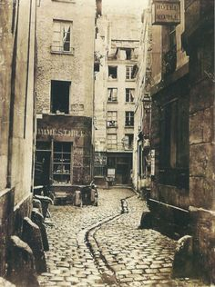 Just uploaded a bunch of Charles Marville's photographs of Paris to Photobucket–go have a look! Marville was specifically tasked with photographing all the streets about to be destroyed in Haussmann's demolitions, so almost all of the places in. Old Photography, Street Photography, Old Pictures, Old Photos, Vintage Paris, Foto Vintage, French Photographers, Tour Eiffel, Paris Street