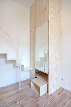 Креативный дизайн мини квартиры, Берлин, Германия