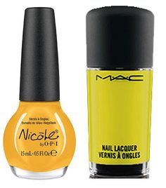 Spring nail trends: Left: Nicole by OPI 'One Voice,'  Right: MAC Cook Collection in 'Al Fredo,'