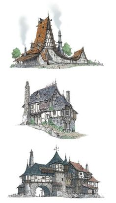the Middle Ages house A:You can find Middle ages and more on our website.the Middle Ages house A: Fantasy City, Fantasy House, Fantasy Places, Fantasy World, Environment Concept, Environment Design, Building Concept, Fantasy Landscape, Environmental Art