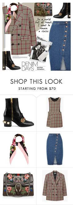 """""""JEANS DREAMS : My Lady"""" by riskiarrafida ❤ liked on Polyvore featuring Gucci, MANGO, Dolce&Gabbana and Madewell"""